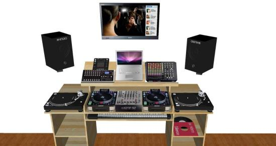 mueble casero dj : megustalamusicaelectronica.com